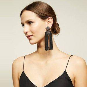 Sachin & Babi Noir statement earrings Black Tassel